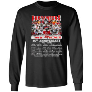 Buccaneers Tampa Bay Buccaneers 35TH Anniversary 1976 2021 signatures shirt