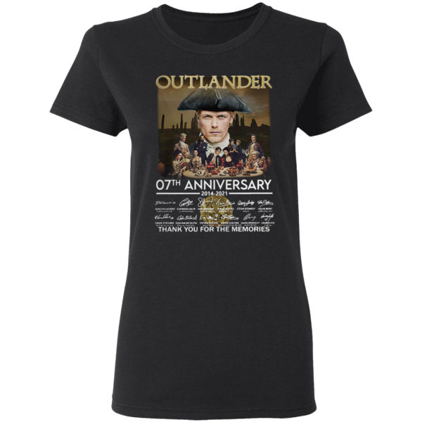 Outlander 07th anniversary thank you for the memories signatures shirt
