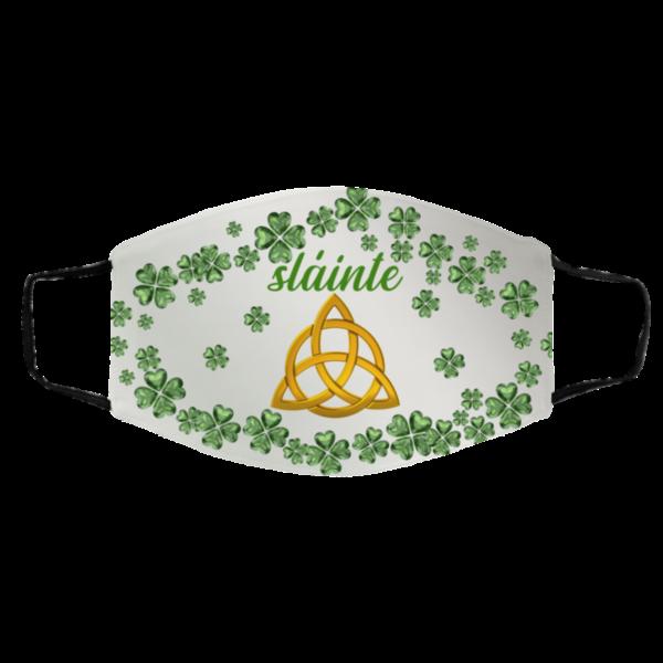 Irish Celtic Trinity Knot Slainté Shamrock St Patrick's Day Face Mask Cover