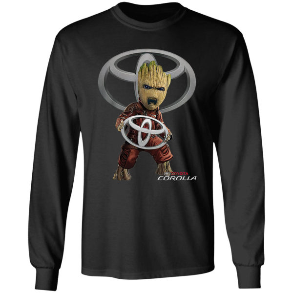 Baby Groot hug Toyota Corolla shirt