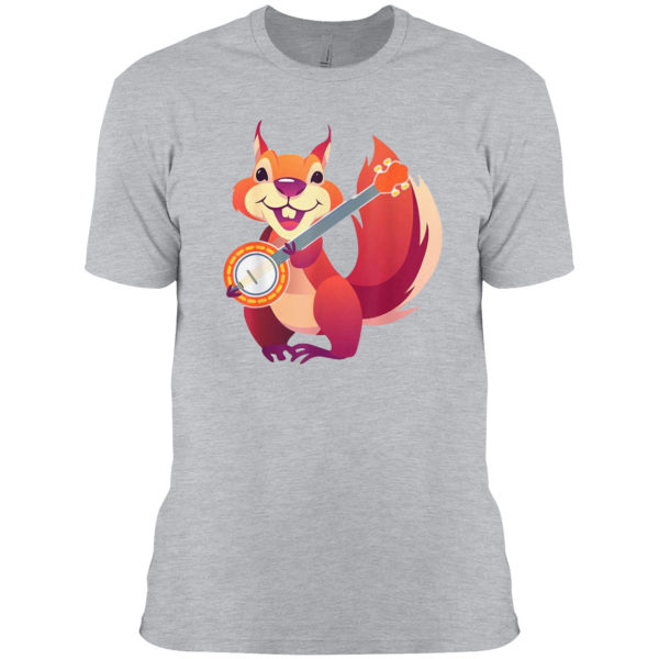 Squirrel Music Banjo Musician Rodent Small Animal Lover T-shirt