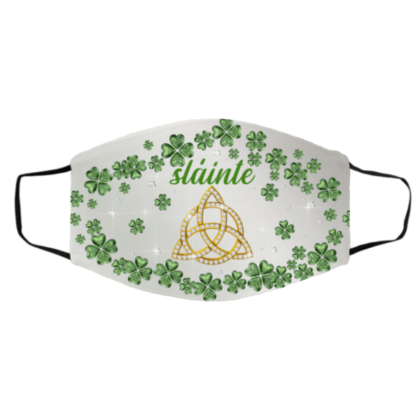 Irish Celtic Trinity Knot Slainté Shamrock St Patrick's Day Face Mask