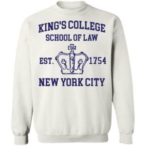 Alexander Hamilton Kings College School Of Law Est 1954 New York City Tee Shirt