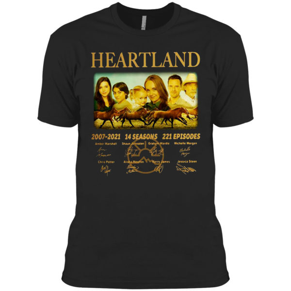 Awesome 14 years of Heartland 2007-2021 14 seasons 221 episodes signed shirt