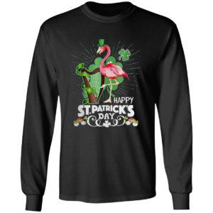 Flamingo Happy St Patrick's Day Shirt