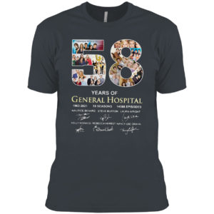 58 years of General Hospital 1963 2021 signature shirt