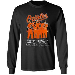Orioles Frank Robinson Brooks Robinson Cal Ripken Jim Palmer signatures shirt