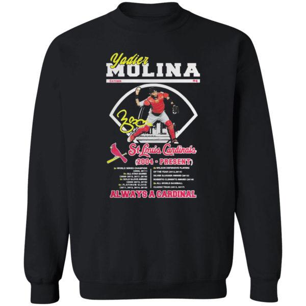 Yadier Molina St.Louis Cardinals always a Cardinal shirt