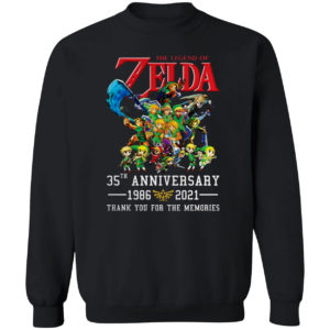 The Legend Of Zelda 35Th Anniversary 1986 2021 Thank You For The Memories Shirt