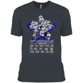 Dallas Cowboys 60th anniversary 1960 2020 signatures shirt