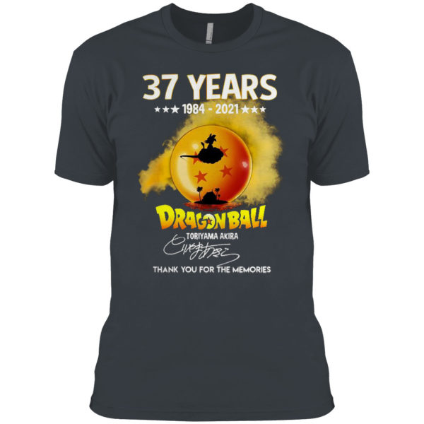 Son Goku 37 Years Of 1984-2021 Dragon Ball Z Signature Thank You For The Memories Shirt