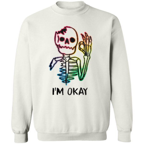 Skeleton Tattoo I'm Okay Shirt