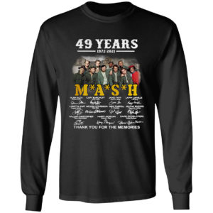 49 years 1972-2021 Mash thank you for the memories signatures shirt