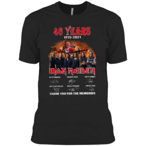 46 years 1975 2021 Iron Maiden thank you for the memories signature shirt