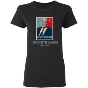 Rush Limbaugh thank for the memories 1951-2021 vintage art shirt