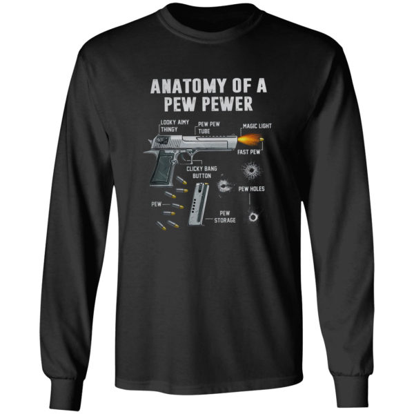 Anatomy of a pew pewer looky aimy thingy shirt