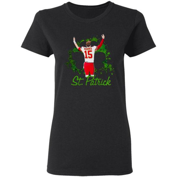 15 Patrick Mahomes St. Patrick's day Kansas City Chiefs Shirt