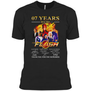 07 Years 2014 2021 Of The Flash Signatures Thank You For The Memories Shirt