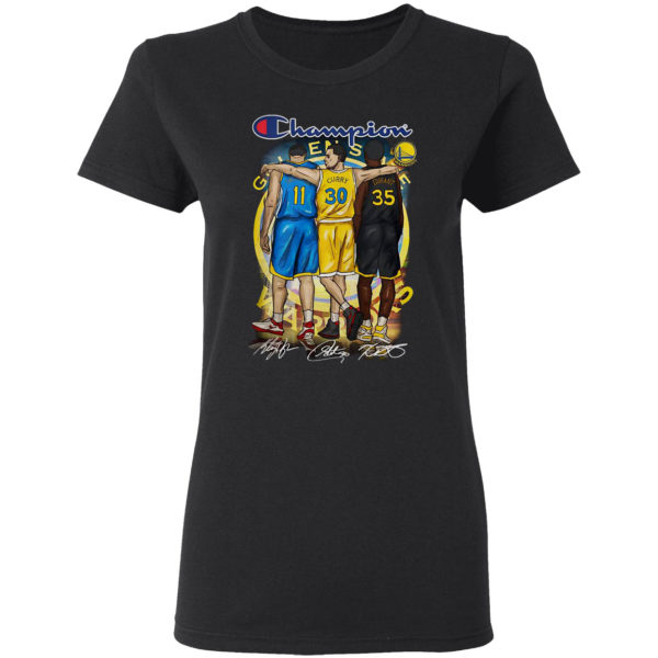 Champion Golden State Warriors Stephen Curry Klay Thompson Kevin Durant Signatures Shirt
