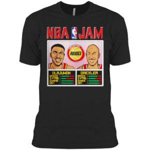 Nba jam rockets olajuwon and drexler shirt