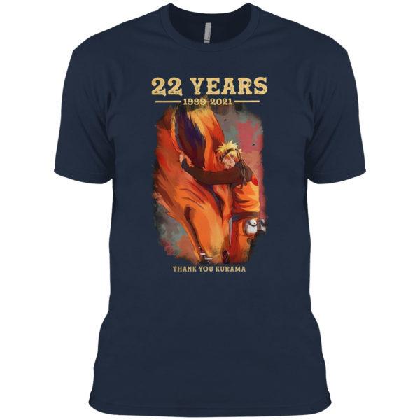 22 years naruto 1999 2021 thank you kurama shirt