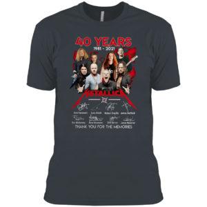 40 years 1981 2021 Metallica Kirk Hammett Lars Ulrich signatures shirt