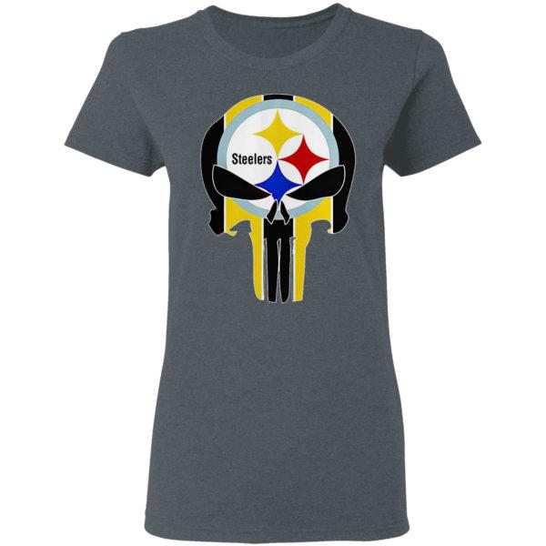 Skull NFL Pittsburgh Steelers logo shirt