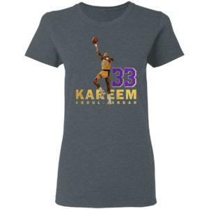 Kareem abdul jabbar 33 los angeles 1984-1985 shirt