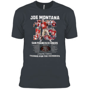 2021 Joe Montana 16 san francisco 49ers 1979 1992 signature shirt