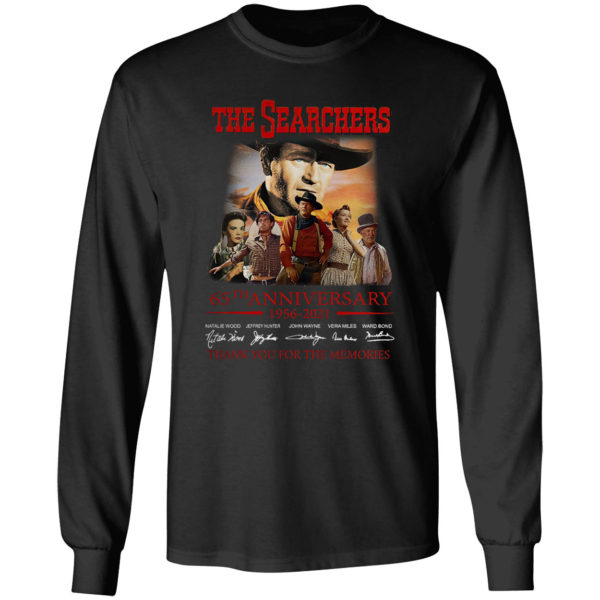 The Searchers 65th anniversary 1956-2021 thank you for the memories signatures shirt