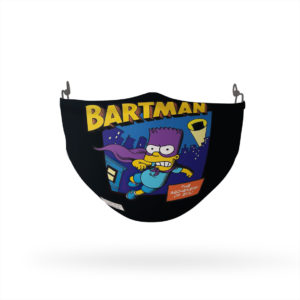 The Simpsons Bartman Reusable Cloth Face Mask