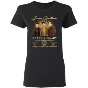 Jonas Brothers 16th anniversary 2005-2021 thank you for the memories signatures shirt