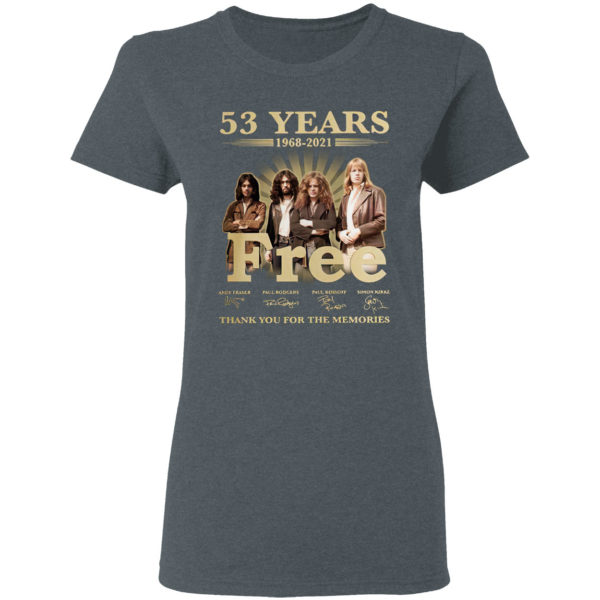 53 Years Free Thank You For The Memories Signatures Shirt