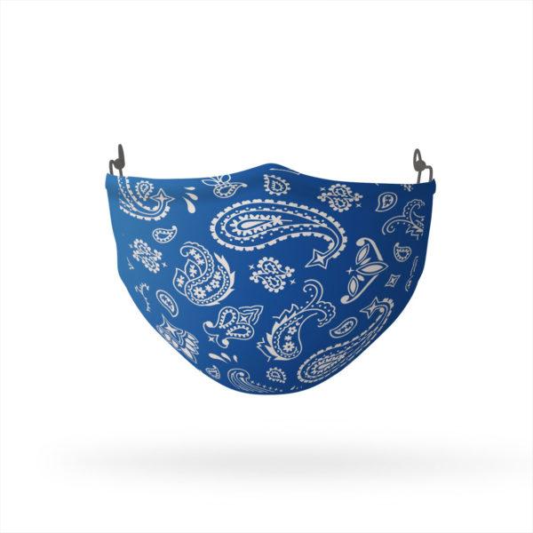 Blue Paisley Reusable Cloth Face Mask