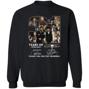 31 Years The Brooks And Dunn 1990 2021 Signatures Thank You For The Memories Shirt