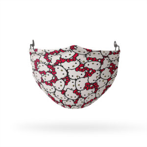 Hello Kitty and Red Bow Pattern Reusable Cloth Face Mask
