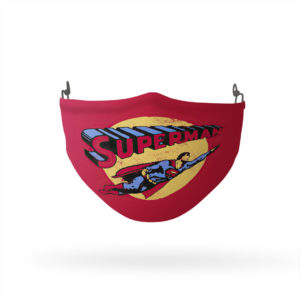 Superman Fly By Reusable Cloth Face Mask