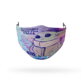 Baby Yoda Star Wars The Child Stronger Than You Think Reusable Cloth Face Mask