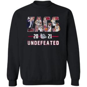 Gonzaga Bulldogs undefeated Zags 2021 shirt