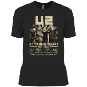 U2 45th Anniversary 1976 2021 Thank You For The Memories Signatures Shirt