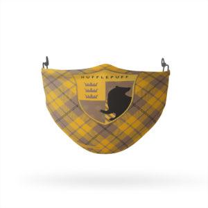 Harry Potter Hufflepuff Plaid Reusable Cloth Face Mask