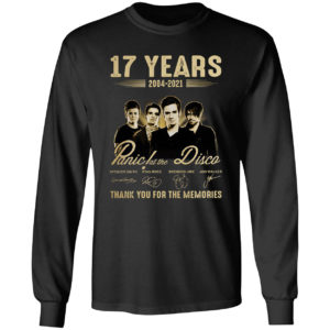 17 years Panic La The Disco thank you for the memories signatures shirt