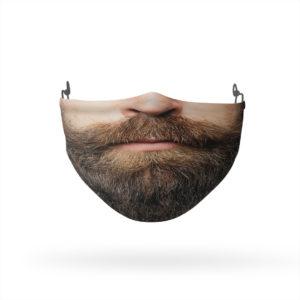 Hipster Beard Reusable Cloth Face Mask