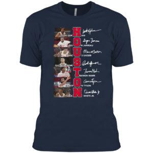 Houston Cougars Teams Basketball Signatures Shirt