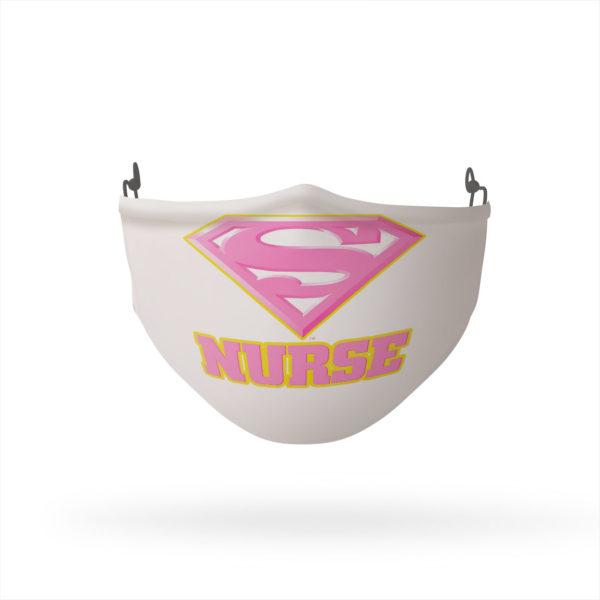Superman Super Nurse Pink Reusable Cloth Face Mask