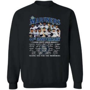 Seattle Mariners 44th Anniversary 1977 2021 thank you for the memories shirt