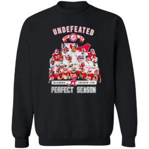 Undefeated Alabama Crimson Tide perfect season shirt