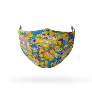 The Simpsons Character Collage Reusable Cloth Face Mask
