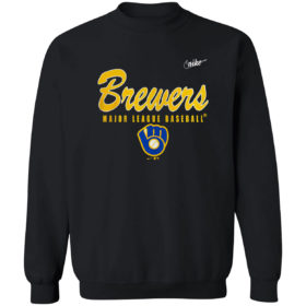 Milwaukee Brewers Nike Cooperstown Collection Wordmark Script Logo shirt