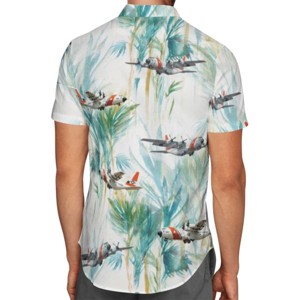 US Coast Guard HC-130 Hercules Hawaiian Beach Shirt, Shorts